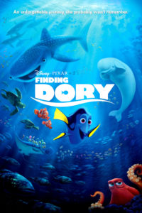 "Poster for the movie ""Buscando a Dory"""