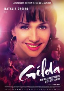 "Poster for the movie ""Gilda, No Ne Arrepiento de Este Amor"""