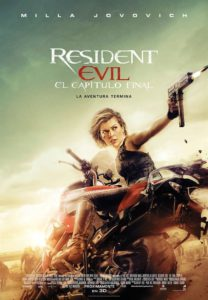 """Poster for the movie """"Resident Evil: El capítulo final"""""""