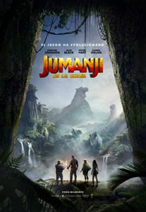 "Poster for the movie ""Jumanji: Bienvenidos a la jungla"""