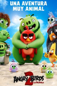 "Poster for the movie ""Angry Birds 2: La película"""